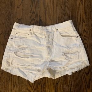 Citizens of Humanity - S27 White High Rise Shorts